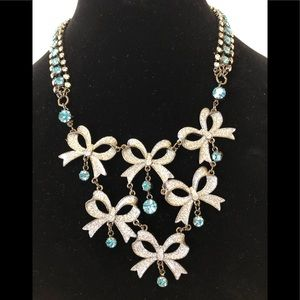 Betsey Johnson Winter Bow Necklace